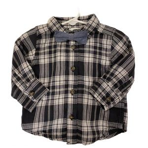 Baby Boy's Long Sleeve Button Down with Bow tie